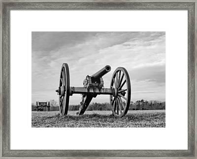 Civil War Canon - Manassas Battlefield - Virginia Framed Print by Brendan Reals