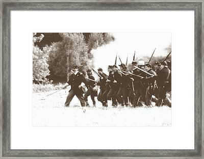 Civil War Charge Framed Print
