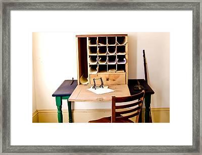 Civil War Desk Framed Print by Trish Tritz