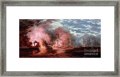 Civil War Engagement Framed Print by Xanthus Russell Smith
