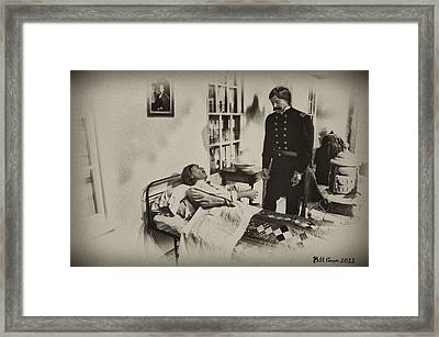 Civil War Hospital Framed Print