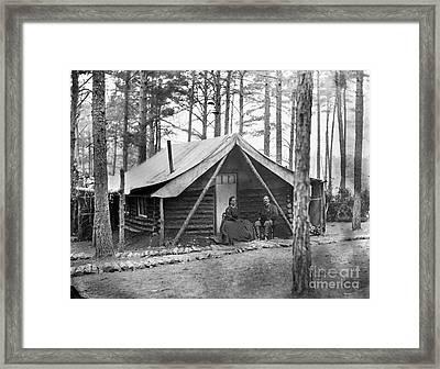 Civil War: Log Cabin, 1864 Framed Print by Granger