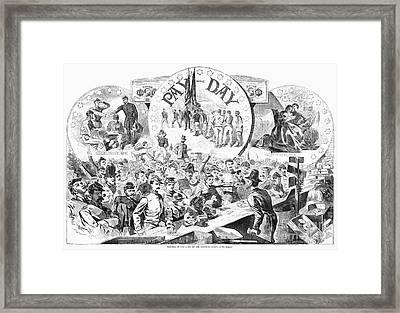 Civil War: Pay Day, 1863 Framed Print by Granger