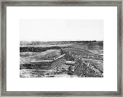 Civil War Quaker Guns Framed Print
