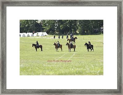 Civil War Reenactment Framed Print