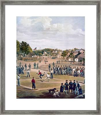 Civil War: Union Prisoners Framed Print by Granger