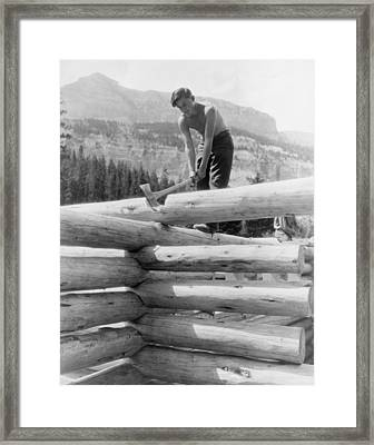 Civilian Conservation Corp Worker Framed Print by Everett