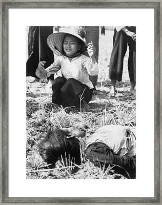 Civilians Killed By Homemade Viet Cong Framed Print