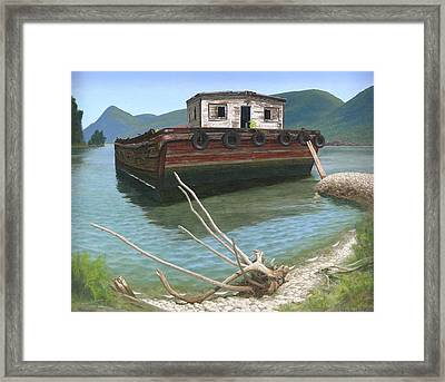 Claims Of Time Framed Print by Glen Heberling