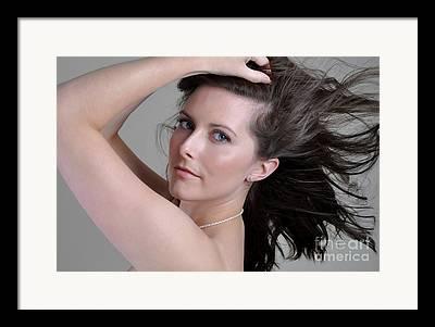 Brunette Nude Art For Sale Framed Prints