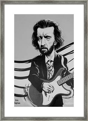 Clapton In Black And White Framed Print by Rob Hans
