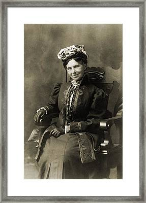 Clara Barton 1821-1912, In Retirement Framed Print by Everett