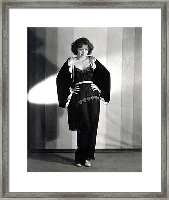 Clara Bow, Around 1929 Framed Print by Everett