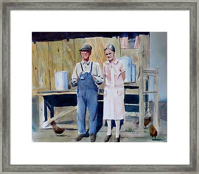 Clarence And Sophyra Hartness Framed Print