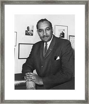Clarence Mitchell, Jr., Head Framed Print by Everett