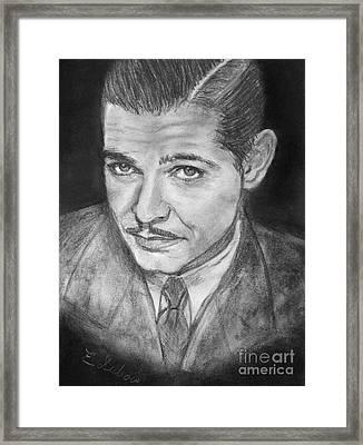 Clark Gable Framed Print by Elisabeth Dubois