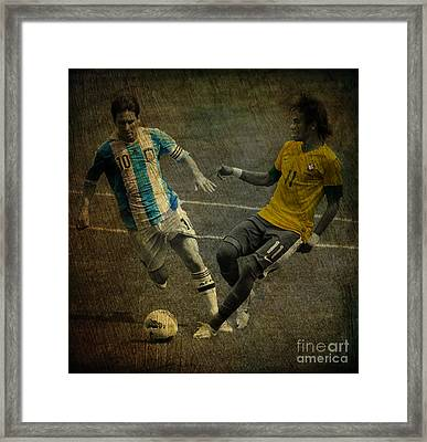 Clash Of The Titans II Framed Print by Lee Dos Santos