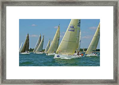 Class 5 Yachts Racing Framed Print