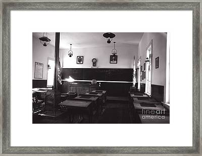 Class Room Inside View Calico California Framed Print by Susanne Van Hulst