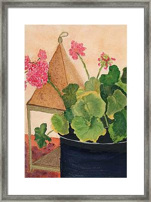Framed Print featuring the painting Class Work by Joan Zepf