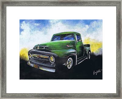 Classic 56 Ford Truck Framed Print