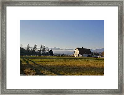 Framed Print featuring the photograph Classic Barn In The Country by Mick Anderson