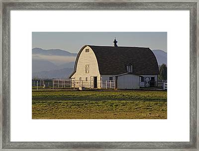 Framed Print featuring the photograph Classic Barn Near Grants Pass by Mick Anderson