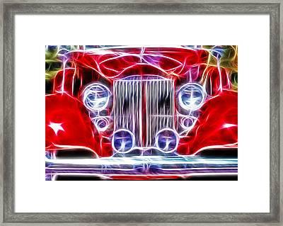 Classic Buick Roadster - Fractal Framed Print by Steve Ohlsen