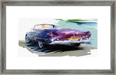 Classic Cadillac Convertible  Framed Print by RG McMahon