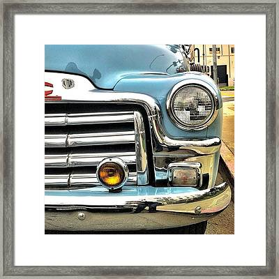 Classic Car Headlamp Framed Print by Julie Gebhardt