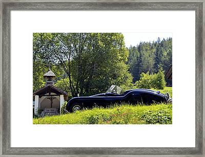 Classic Car Jaguar Xk120 Framed Print