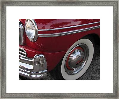 Classic Car Mercury Red 3 Framed Print by Anita Burgermeister