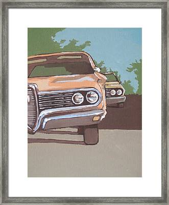 Classic Cars Framed Print by Sandy Tracey