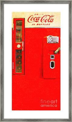 Classic Coke Dispenser Machine . Type 2 . Long Cut Framed Print by Wingsdomain Art and Photography
