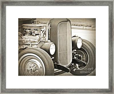 Classic Ford Framed Print by Emily Kelley
