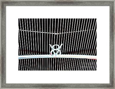 Framed Print featuring the digital art Classic Ford Grill by Tony Cooper