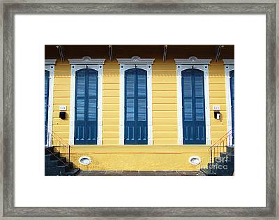 Classic French Quarter Residence New Orleans Accented Edges Digital Art Framed Print