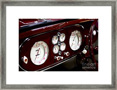 Classic Gauges Framed Print by Jason Abando