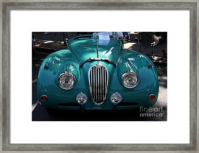 Classic Green Jaguar . 40d9411 Framed Print by Wingsdomain Art and Photography