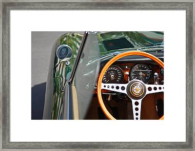 Classic Green Jaguar Artwork Framed Print