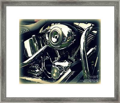Classic Harley Framed Print by Emily Kelley