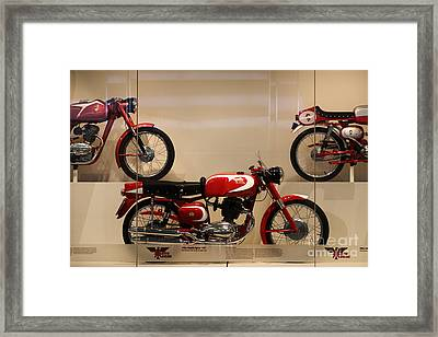 Classic Italian Motorcycles . 1963 Moto Morini 175cc Tresette Sprint . 5d16966 Framed Print by Wingsdomain Art and Photography