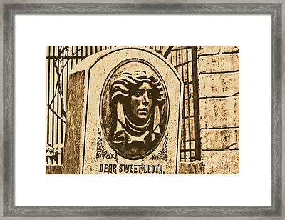 Classic Leota Moving Eyes Headstone Haunted Mansion Magic Kingdom Walt Disney World Prints Rustic Framed Print by Shawn O'Brien