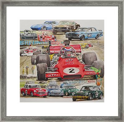 classic Racing 07 Framed Print by John  Archbold