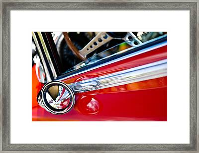 Classic Red Car Artwork Framed Print