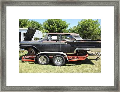 Classic Rusty Old 1959 Ford Galaxie 500 . 5d16308 Framed Print by Wingsdomain Art and Photography
