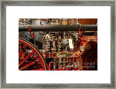 Classic Vintage Fire Engine . 7d13130 Framed Print by Wingsdomain Art and Photography