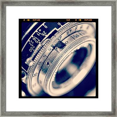 #classic #vintage #retro #lense #camera Framed Print by Ritchie Garrod
