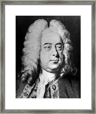 Classical Composer George Frideric Framed Print by Everett