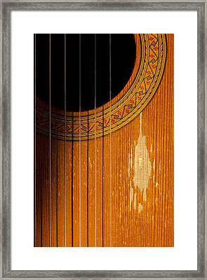 Classical Spanish Guitar Framed Print by Perry Van Munster